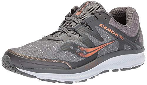Saucony Men's Guide ISO Running Shoe, Grey/Denim, 12.5 Medium US