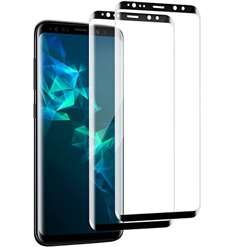 Panzerglas Schutzfolie für Galaxy S9, [2 Stück] Hohe Qualität Gehärtetem Glass [Fallfreundlich] [HD Klar] [Blasenfrei] Panzerglasfolie für Samsung Galaxy S9