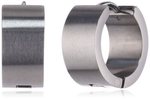 Pure Grey 4873 Titanium Creole Earrings