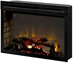 Dimplex PF2325HL Multi-Fire Xd 25-Inch Electric Firebox with Faux Logs Bed, Black