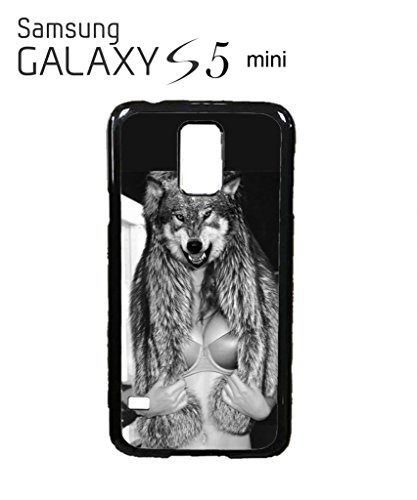 Perky Clothing Wolf Head Naked Boobs Sexy Women Funny Hipster Swag Mobile Phone Case Back Cover Funda Negro Blanc Para for Samsung Galaxy S5 Mini White