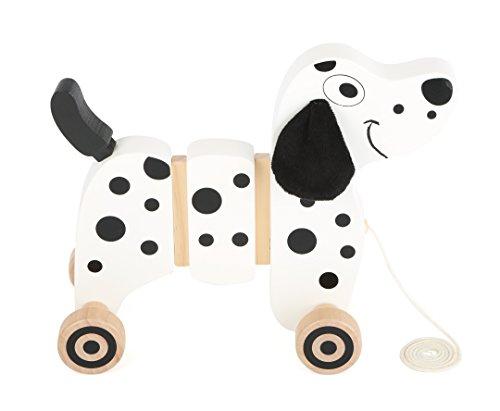 Small Foot- Animal à Tirer à l'effigie d'un Dalmatien. La Queue et Les Oreilles bougent Lorsque Le Chien Roule, 10641