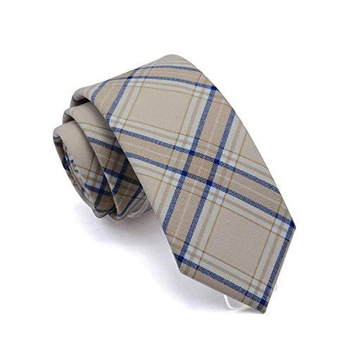 cravatta Slim Cravatta 7Cm Plaid Collo Cravatte Per gli Uomini Tr Vestito Materiale Cravatte Per Festa Di Nozze Affari Rosso Verde Cotone Gravata 05 T