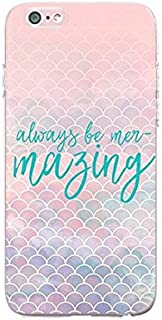 Compatible for iPhone 5C - Durable Slim Case - Quotes - Mermaid - Mermaid Quote - Always Be Mer-Marzing - Fun - Funny