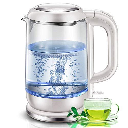 SEESEE.U 1,5 l hohe Borosilikatglas blau Wasserkocher, gesunde und umweltfreundliche Haushalt kann Tee automatische Abschaltkessel Wasserkocher Kochen