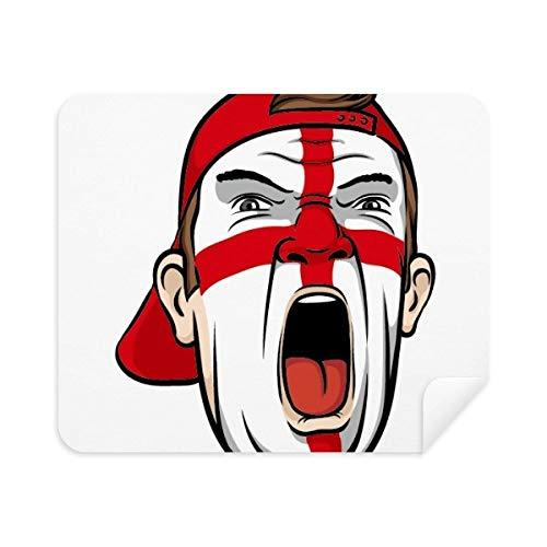 Engeland Vlag Facial Make-up Masker schreeuwen Cap Telefoon Scherm Cleaner Bril Reinigingsdoek 2 stks Suede Stof