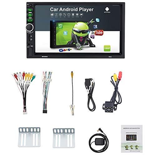 Iycorish 2 Din Android 8.1 Auto Radio 7 Zoll GPS Navi MP5 Spieler Doppel WiFi Quad Core BT mit Kamera, 7918