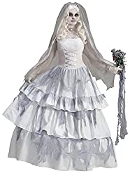 """Forum Novelties Womens Deluxe Victorian Ghost Bride Costume"""
