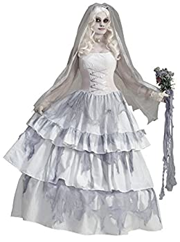 Forum Novelties Women s Deluxe Victorian Ghost Bride Costume Multi One Size
