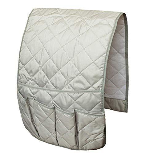 JLDUP Organizador de reposabrazos de sofá, organizador de bolsillo para sofá o sillón reclinable (gris claro, M)