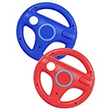 Hieefi 2PCS Racing Wheel Race Gaming sillas Volante Wii Controlador Rueda de Juego Compatible con Wii Juego Remoto Rojo Azul