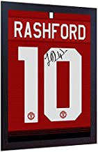 S&E DESING Marcus Rashford Signed Manchester United Printed on Canvas 100% Cotton Framed