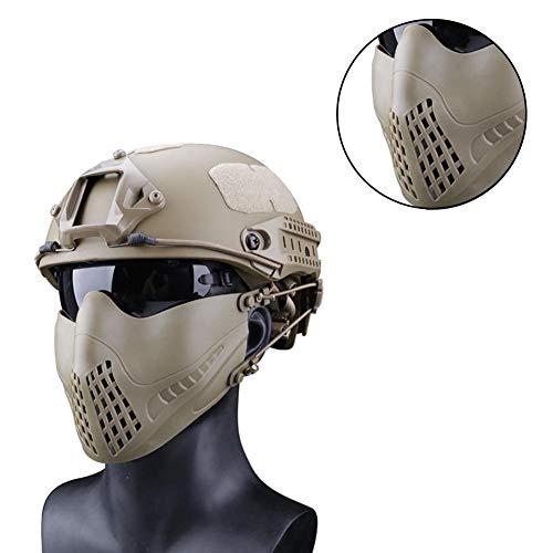 Urben Life Taktische Maske Half Schutzmaske Doppelten Modi Kopfband System Outdoor Gesichtsmaske Maske Paintball Maske Airsoft Maske für Nerf, CS, Nerf Rival