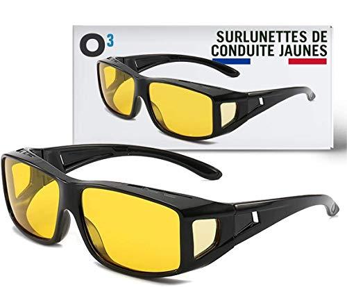O3 - Gafas de conducción amarillas – Adaptable a los diferentes tipos...