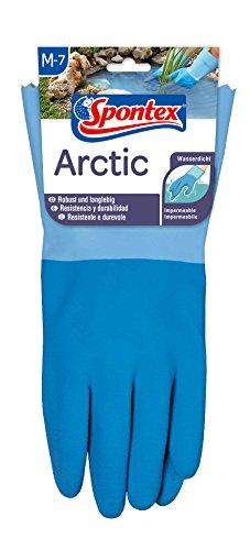 Spontex Arctic Arbeitshandschuhe, für grobe Arbeiten bei Nässe und Kälte, wasserdicht und langlebig, aus Naturlatex, Größe M, 1 Paar