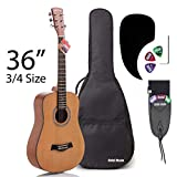 Best Travel Guitars - 3/4 Size (36 Inch) Acoustic Guitar Bundle Junior/Travel Review