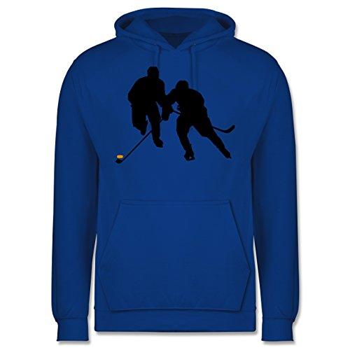 Shirtracer Eishockey - Eishockeyspieler - L - Royalblau - Eishockey Hoodie - JH001 - Herren Hoodie und Kapuzenpullover für Männer