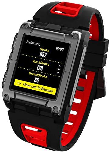 Fitness Tracker Outdoor GPS Schwimmen Smartwatch Herren Militär Uhr mit Schrittzähler Multifunktion Sport Armbanduhr
