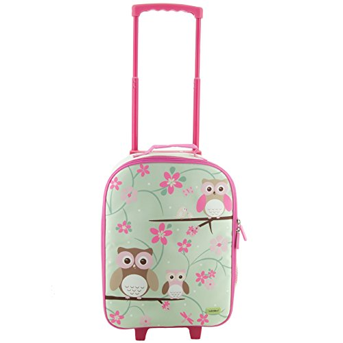 Bobble Art Owl Design Kinder Koffer auf Rädern - Ideal Cabin Gepäck / Kinder Handgepäck Trolley Bag / Koffer