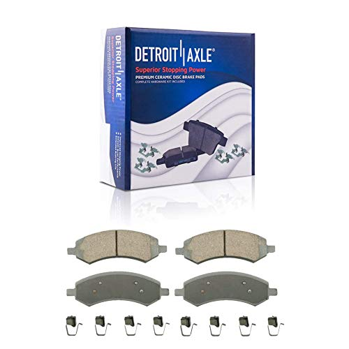 Detroit Axle - Front Ceramic Brake Pads Replacement for Aspen Dodge Dakota Durango Ram 1500 Mitsubishi Raider - 2pc Set