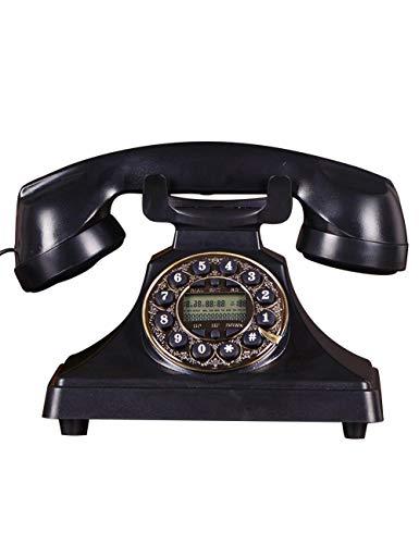 HGJSMN Teléfono antiguo de madera vintage 60s moda con cable de ...