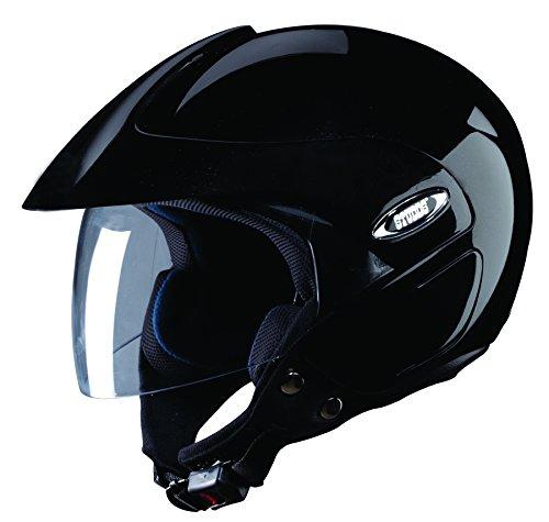 Studds Marshall SUS_MOFH_BLKL Open Face Helmet...
