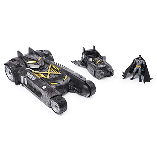 BATMAN 4-inch Action Figure with Batmobile and Batboat 2-in-1 Transforming Vehicle (DC FanDome Exclusive)