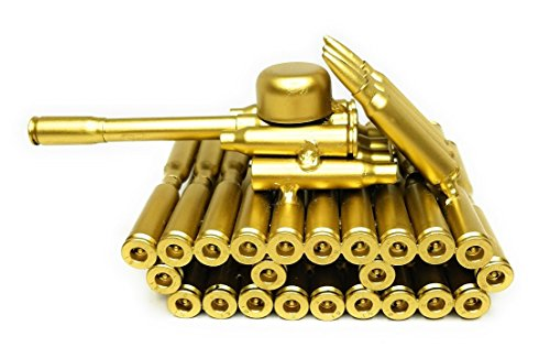 Creative Gold Bullet Shell Metal Tank - Unique New Model Bullet Shell Casing - Great Decorative Piece Artillery Artwork Metal Model- Home Living/Study Room Decorations Gift (Army Tank)