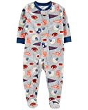 Carter's Baby Boys' 1-Piece Football Poly PJs- Gray (24 Months)