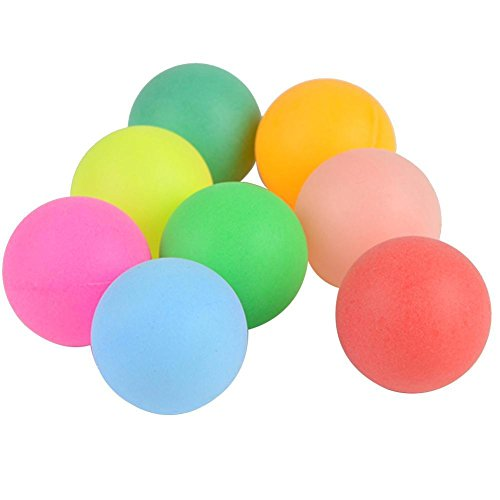 New Gracefulvara 100Pcs Pack 40mm 2.4g Mixed Colors Ping Pong Balls Table Tennis Balls