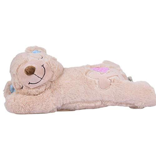 Perro de juguete de felpa Autocalentable Muñeca caliente Almohada para dormir Piedras calefactoras incorporadas Almohada suave para abrazar Juguetes de peluche Cómodo regalos desmontables y lavables