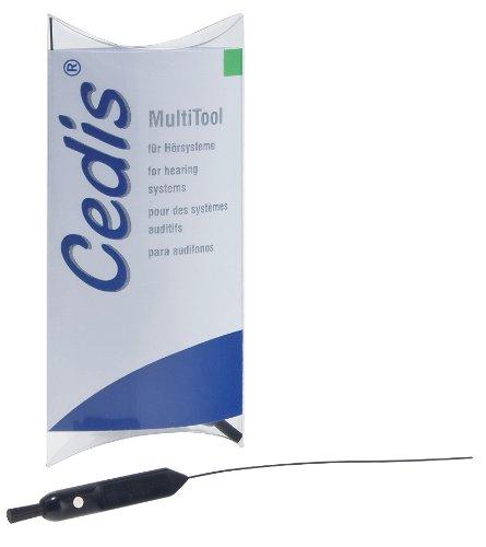 Cedis MultiTool, 5 Stück, Spezialwerkzeug für Hörgeräte mit drei Funktionen - Nr. 78041