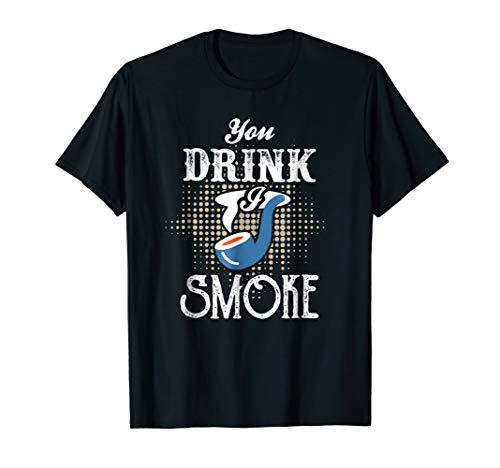 Pipe Smoking T-Shirt   Tobacco Hash Meth Weed