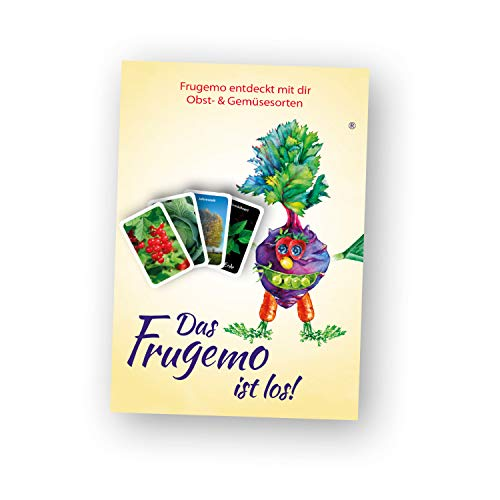 Kartenspiel -Das Frugemo ist los!- regionales Obst und Gemüse spielerisch Kennenlernen, für Kinder ab 3 bis 99. Das Lernspiel ist für Familie, Kita und Schule geeignet.