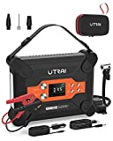 UTRAI Jump Starter 1600A Peak 16000mAH (up to 7.0L Gas and up to 6.5L Diesel Engines) 12V Auto Battery Booster Portable Power Pack with Safety Hammer for Cars, Trucks, SUV