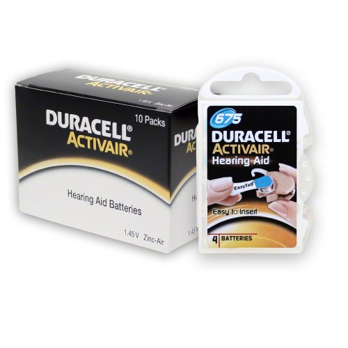 Duracell Activair Easy Tab Size 675 (40 Batteries)