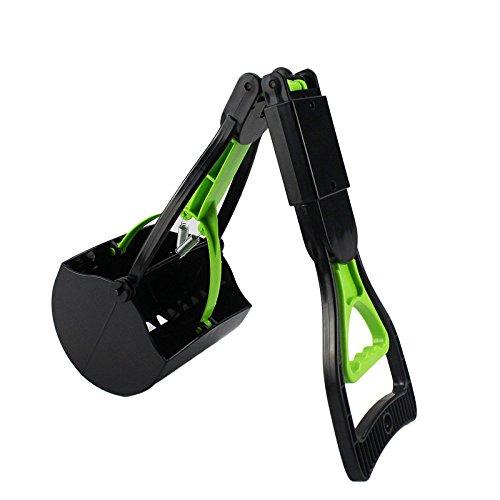 Escomdp Respectueux de l'environnement Chien Chat Caca Scooper Portable Pelles et Sacs Ramasse-crottes (Vert)