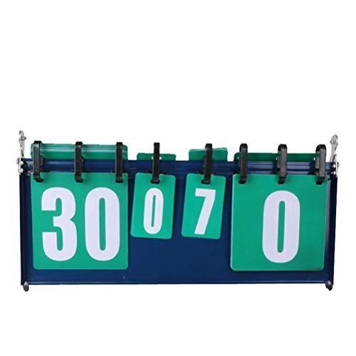 Dirgee Puntuación Deportiva de 4 dígitos portátil Tablero de puntaje Multifuncional for Mesa de Baloncesto de Tenis de Mesa Voleibol de fútbol de bádminton