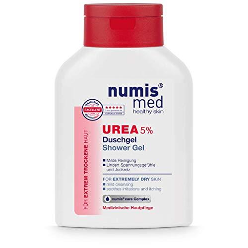 numis med Duschgel mit 5% Urea - Hautberuhigendes Duschgel für extrem trockene, zu Juckreiz neigende Haut - vegane Hautpflege ohne Silikone, Parabene & Mineralöl - Showergel (1x 200 ml)