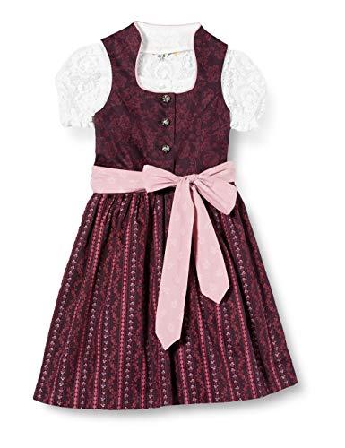 Bärwolf Tracht 506651 Kleid, Beerenfarben mit Rosa, 128