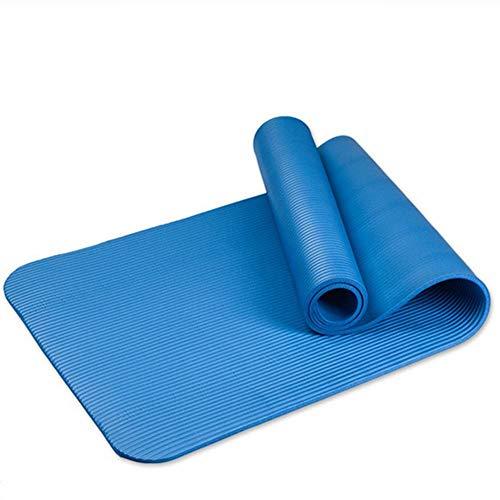 ERSD Tappetino Yoga Antiscivolo Spesso 10MM Tappetino Yoga NBR Opaco Verde e Attrezzature for Il Fitness insapore (Colore : Blu)
