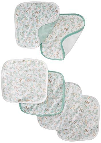Soulwell Baby Bio Waschlappen Set 6 - super weiche bunte glatte Premium Qualität GOTS zertifiziert Multi-Zweck Frottee Handtücher 21 x 21 cm (Mint)