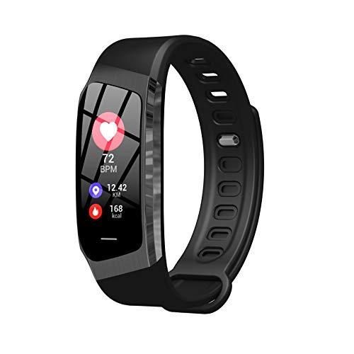 Smartwatch, fitnesstracker met hartslagmeter, bloeddrukmeting, waterdicht, hartslagmeter, hartslagmeter, stappenteller, horloge voor dames en heren, oproepen, sms-berichten