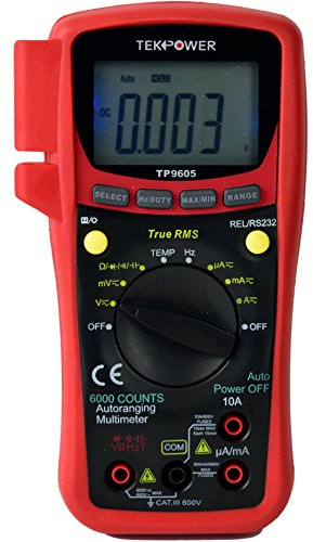 TekPower TP9605BT Auto Ranging Digital True RMS Smart Multimeter with...