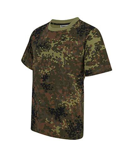 Army Tarn T-Shirt Camouflage Outdoor Tarnmuster Tactical Militär Camo Shirt (S, Flecktarn)