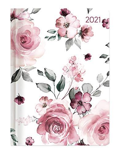 Alpha Edition - Agenda Settimanale Ladytimer 2021, Formato Tascabile 10,7x15,2 cm, Rose, 192 Pagine
