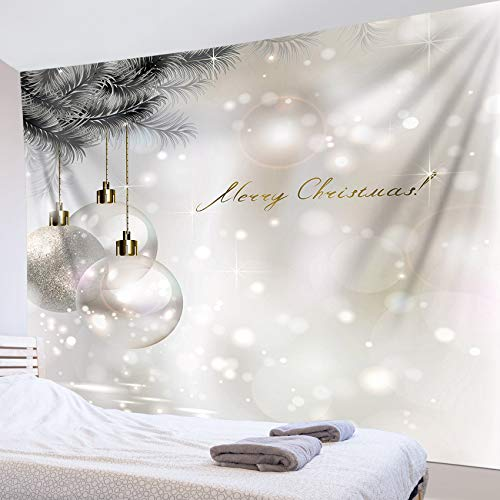 LB Christmas Balls Tapestry Gray Background 3D Watercolor Tapestry Wall Blanket Wall Art Wall Decor Xmas Tapestry Wall Hanging for Bedroom Living Room Dorm,80 x 60 Inches