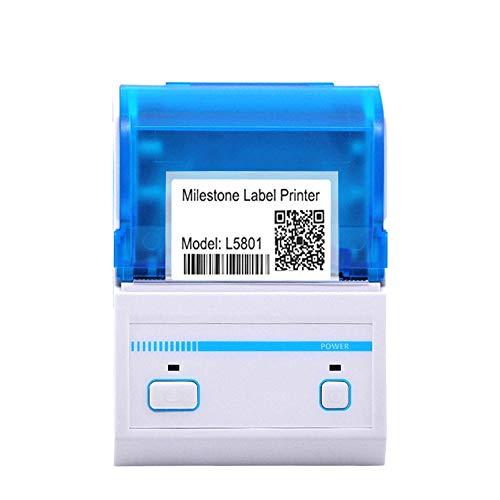 ZUKN 58MM Portable Étiquette Thermique Bluetooth Imprimante Support USB Et Bluetooth Mini Barcode QR Machine d'impression Compatible avec Android iOS Windows 2 Pièces