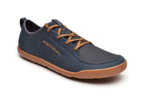 Astral Men's Loyak Barefoot Shoes for Outdoor, Water, Travel and Boat, Navy/Brown, 8 M US