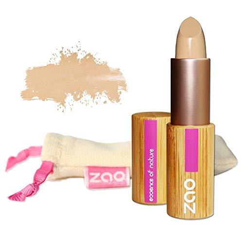 ZAO Concealer 492 beige Abdeckstift, Cover Stick, Korrektor, in nachfüllbarer Bambus-Dose (bio, Ecocert, Cosmebio, Naturkosmetik)